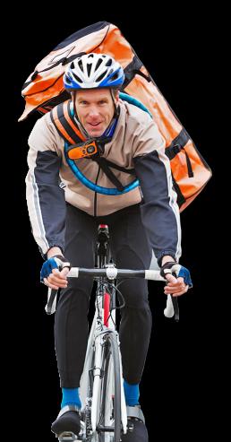 Rahrradkurier gesteuert durch RULS